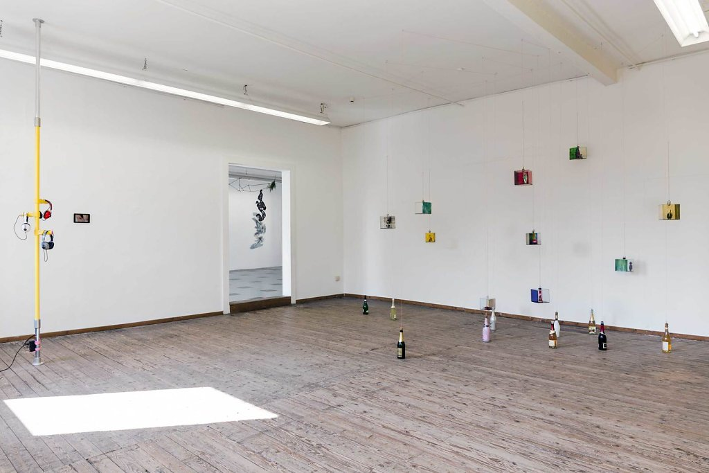 "Installation views at ""shared spaces"", Kunstverein Aschaffenburg, 2017"